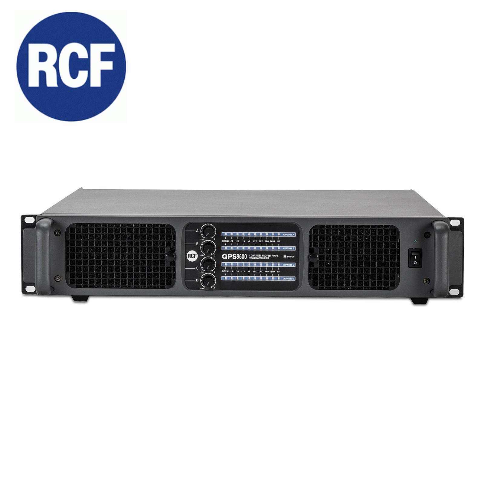 Rcf Qps 9600 High Power Amplifier 2x2400 W Rms 2 Ohm Live Market Audio Lighting